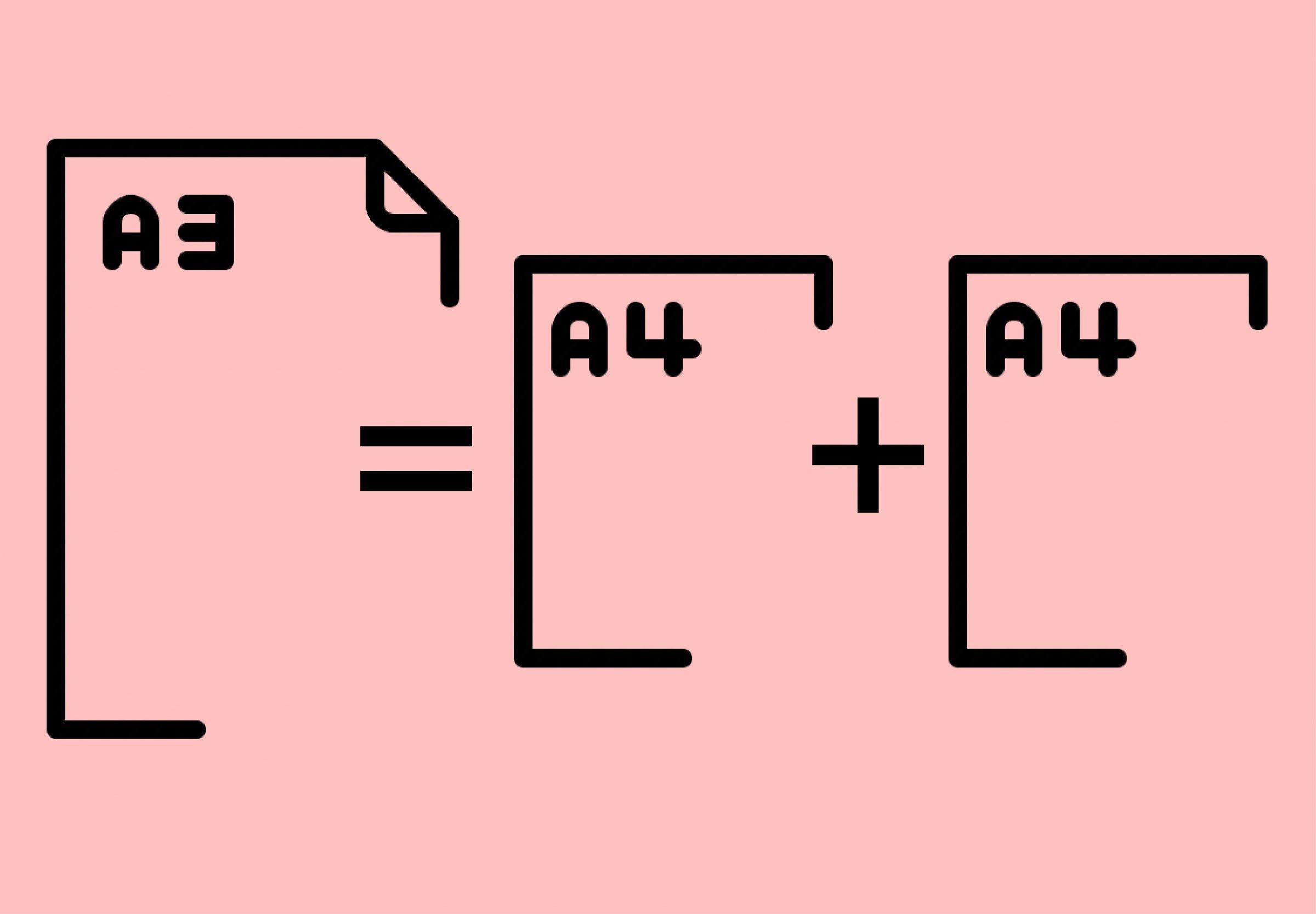 如何把A4大小的纸切成A5大小?